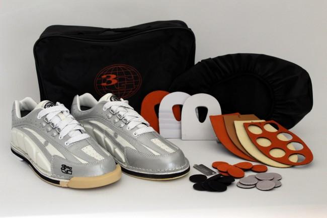 100% authentic 87eb7 07011 best-bowling 3G Tour Ultra, white/silver Bowlingschuhe - mit ...