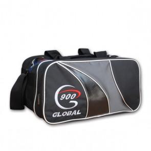 Double Tote Bag mit Schuhfach, schwarz/silber 900 Global