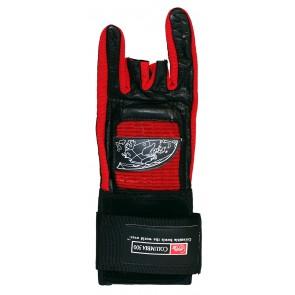 Handschuh Wrist Glove Deluxe Columbia, rot/schwarz, mit Metallverstärkung